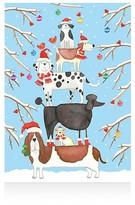 Caspari Dog Tower Christmas Cards, Box of 16