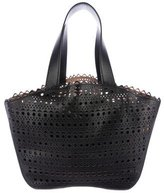 Alaia Scalloped Laser Cut Tote