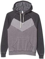 Alternative Chevron Blocked Hoodie (Nickel/Washed Black) Men's Clothing