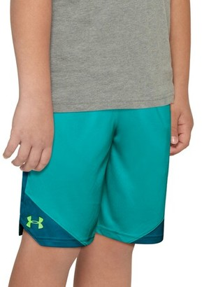 Under Armour Stunt 2.0 Shorts - Teal Rush / Vibe Lime Light
