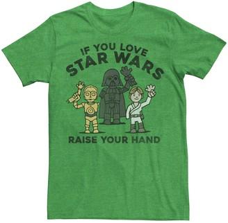 Star Wars Men's Raise Your Hands Doodle Sketch Tee
