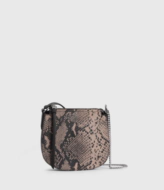 AllSaints Ely Small Round Leather Crossbody Bag