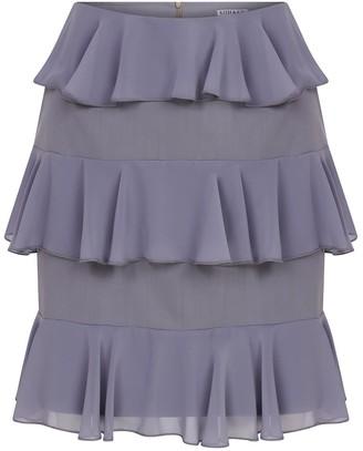 Kith & Kin Flare Chiffon Grey Skirt