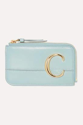 Chloé C Small Leather Cardholder - Light blue