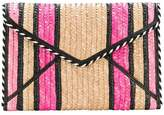 Rebecca Minkoff striped envelope clutch bag