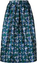Oscar de la Renta patterned full skirt - women - Silk - 8