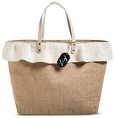 Women's Tote Handbag with Chalkboard Tag for Personalization Tan