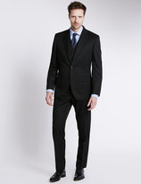 Marks And Spencer Black Regular Fit Suit Including Waistcoat