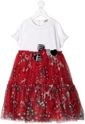 MonnaLisa Panelled Tier-Skirt Dress