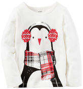 Carter's Long-Sleeve Penguin Tee