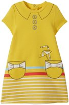Little Marc Jacobs Fancy Pockets Print Dress (Baby) - Yellow-6 Months