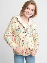 Gap Cozy logo floral zip hoodie