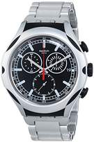 Swatch Men's YYS4000AG Irony Analog Display Swiss Quartz Silver Watch