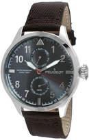 Peugeot Mens Brown Strap Aviator Watch 2044SBR