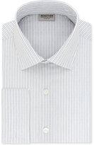 Kenneth Cole Reaction Men's Slim-Fit Techni-Cole 3 Way Flex Navy Stripe Dress Shirt