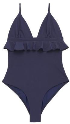 Casa Raki - Marta Ruffled Swimsuit - Navy