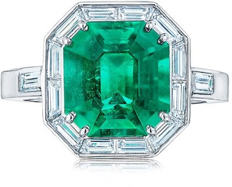 Kwiat Platinum Diamond Emerald Cut Ring