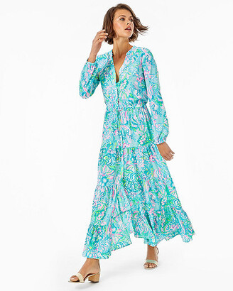 Lilly Pulitzer Cori Stretch Midi Shirtdress