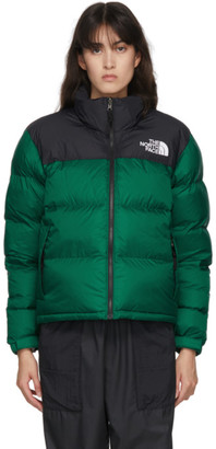 The North Face Black and Green Down 1996 Retro Nuptse Jacket