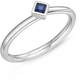 Memoire Stack 'Em Up 18K 0.15 Ct. Tw. Blue Sapphire Ring