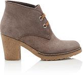 Barneys New York WOMEN'S CREPE-SOLE DESERT BOOTS-BROWN SIZE 10