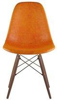 NyeKoncept 331011EW2 Mid Century Dowel Side Chair, Burnt Orange