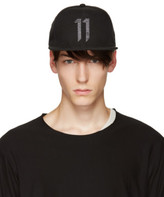 11 By Boris Bidjan Saberi Black Logo 11 Cap