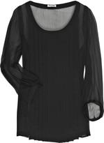 Sheer silk-chiffon blouse