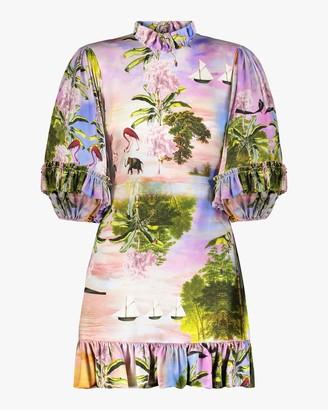 Cynthia Rowley Catalina Ruffle Shift Dress