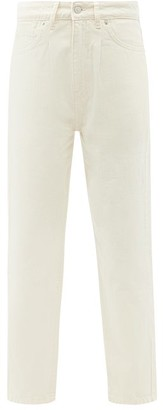 Officine Generale Dana High-rise Cropped Jeans - Ivory