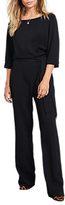 Hush Avery Belted Jumpsuit, Black