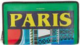 Balenciaga Multicolor Paris Continental Wallet