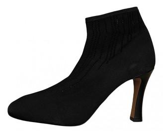 Celine Black Cloth Ankle boots