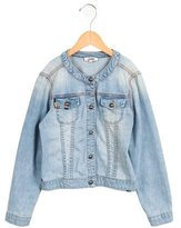 Junior Gaultier Girls' Embroidered Denim Jacket