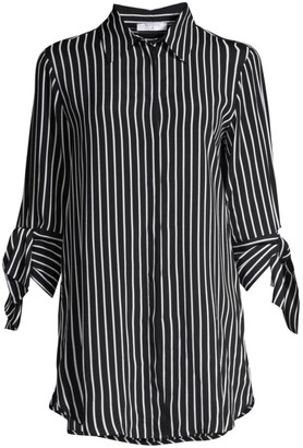 Beatrice. B Tie-Sleeve Striped Blouse