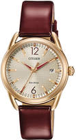 Zales Ladies' Drive from Citizen Eco-DriveA LTR Rose-Tone Strap Watch with Champagne Dial (Model: FE6083-05P)