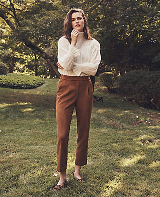 Ann Taylor The Faux Suede Easy Ankle Pant