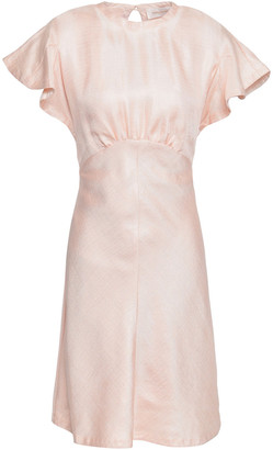 Zimmermann Open-back Satin-twill Mini Dress