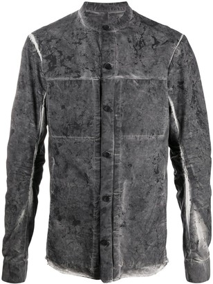 Masnada Distressed Effect Cotton Shirt Jacket