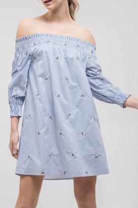 J.o.a. Off-the-Shoulder 3/4 Sleeve Dress