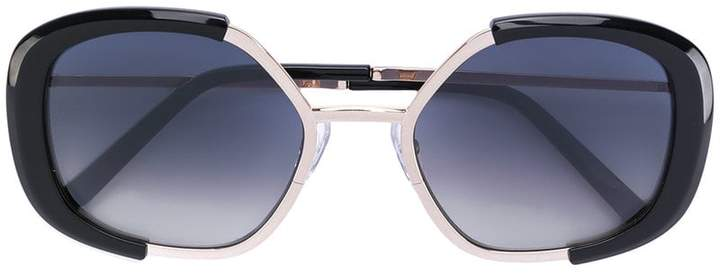 Cutler & Gross geometric shaped sunglasses