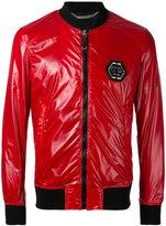 Philipp Plein I Win bomber jacket - men - Cotton/Polyamide/Polyester/Spandex/Elastane - M