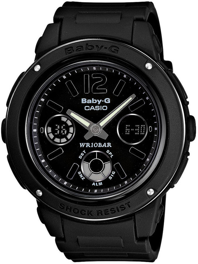 Baby-G Watch, Women's Analog Digital Black Resin Strap 48x43mm BGA151-1B