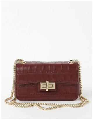 DKNY R02EPI68AWN JOJO MINI Flap Over Crossbody Bag