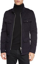 Tom Ford Quilted Safari Zipper Jacket, Navy