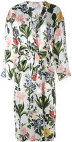 Vivetta - floral print trench coat - women - Silk - 44