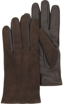 Forzieri Brown Touch Screen Leather Men's Gloves