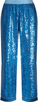 Ashish Sequin-embellished wide-leg cotton trousers