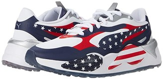 Puma Golf RS-G USA White/Peacoat/High Risk Red) Athletic Shoes