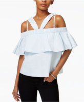 MinkPink Cloud Nine Cotton Off-The-Shoulder Top
